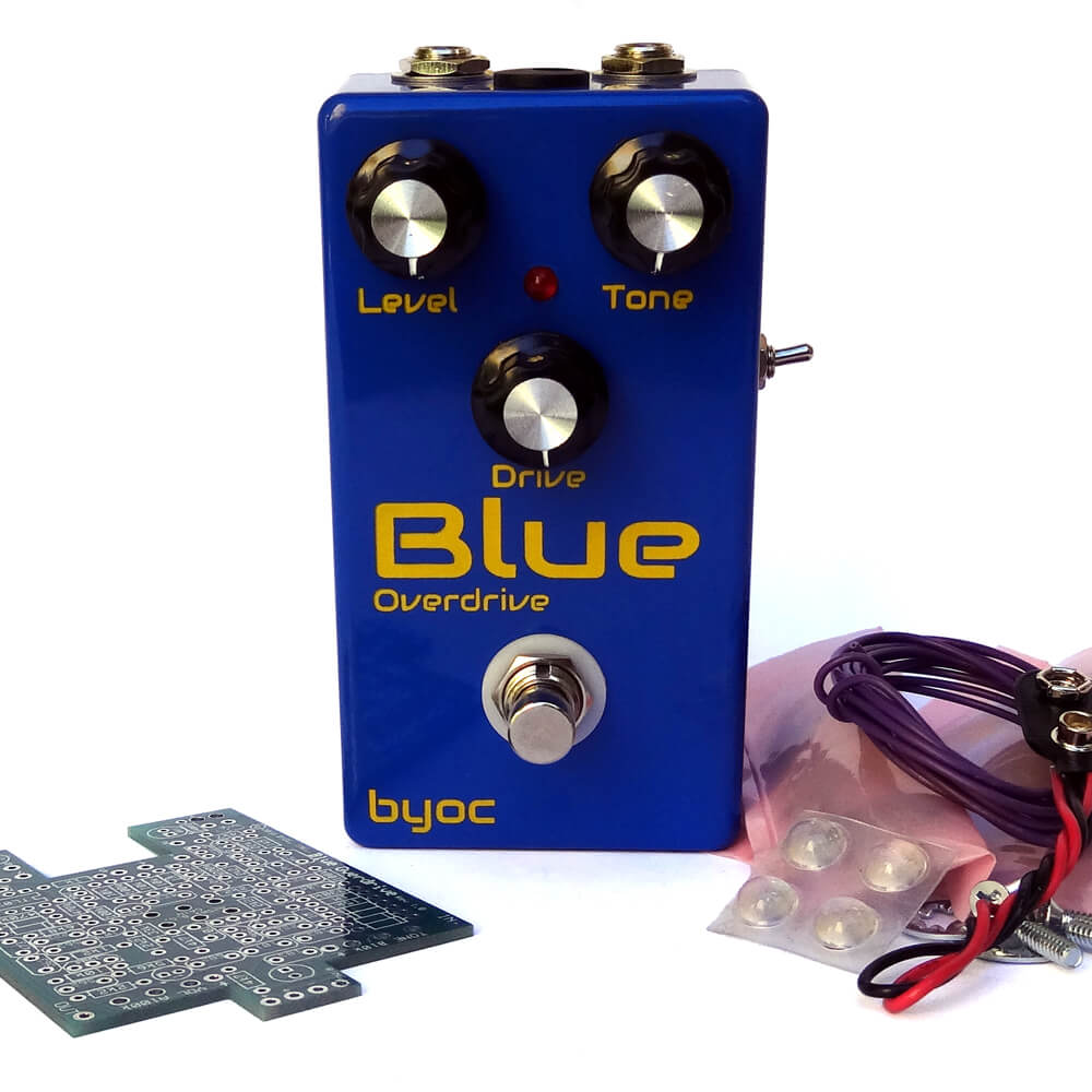 Blue Overdrive kit deluxe (excl  mod kit) – moodysounds
