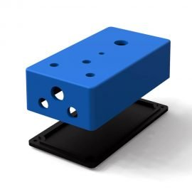 3D-modell pedalbox (125B 3 rattar)